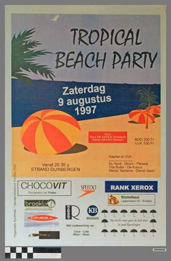 Tropical Beach Party, Zaterdag 9 Augustus 1997