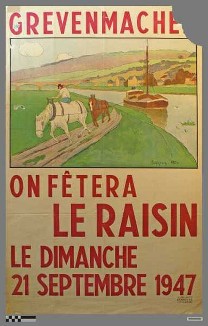 Grevenmach, On Fetera Le Raisin, Le Dimanche 21 Septembre 1947