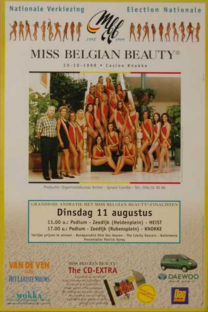 MISS BELGIAN BEAUTY 10-10-1998  Casino Knokke
