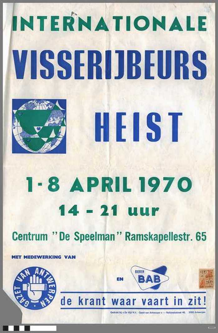 Internationale Visserijbeurs Heist - 1970