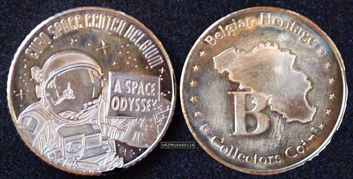 Belgian Heritage Collectors Coin - Euro Space Center Belgium